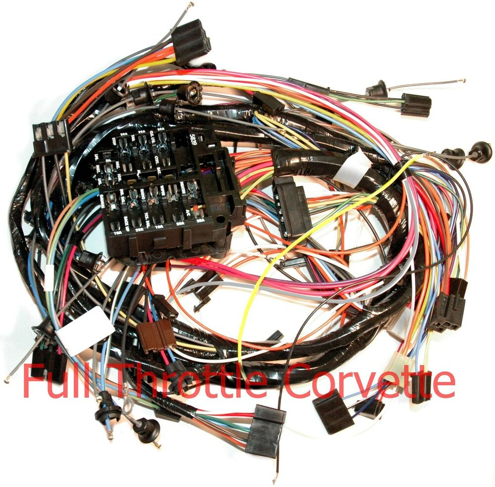 1971 Corvette Dash Wiring Harness For Cars Without Air