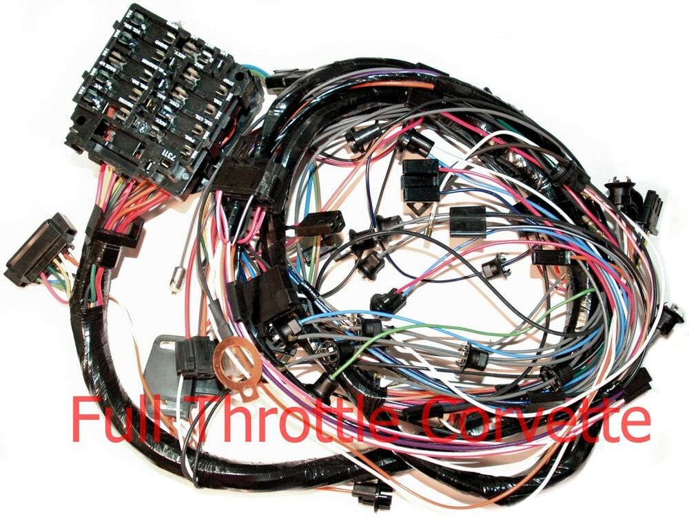 1976 Corvette Dash Wiring Harness For Vettes With