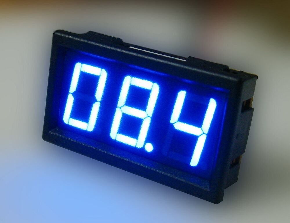 mini blue led dc 0 10a digital amp current meter ammeter. Black Bedroom Furniture Sets. Home Design Ideas
