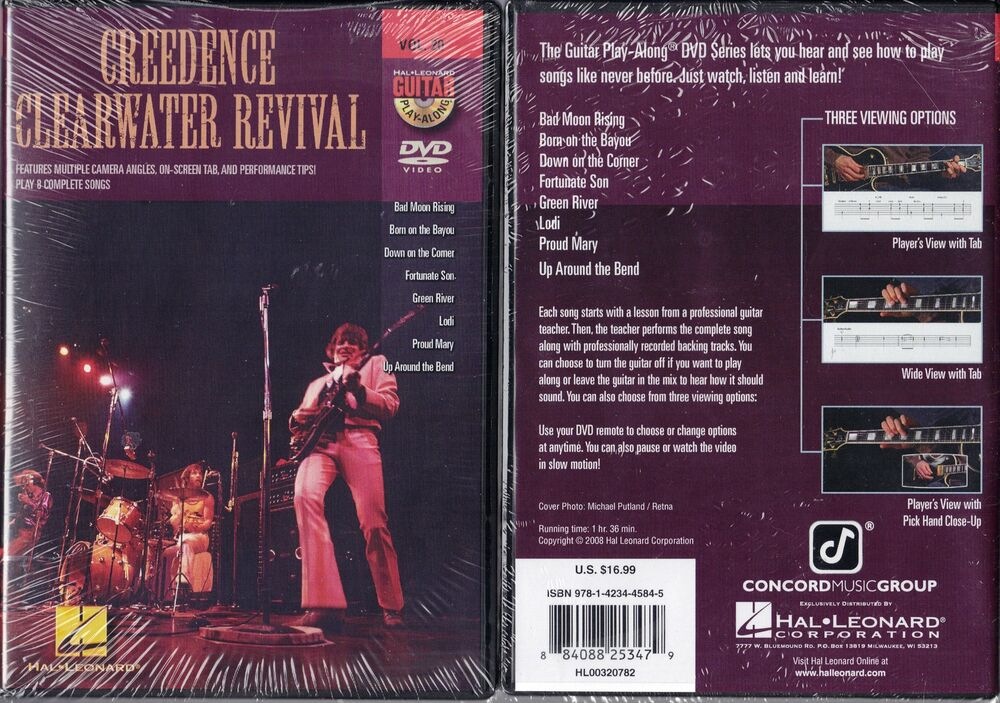 Hal Leonardcreedence Clearwater Revival Guitar Instruction Dvd 20