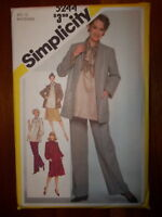 Simplicity 1981 Size 12 Women's Maternity Outfit 5244 New Uncut