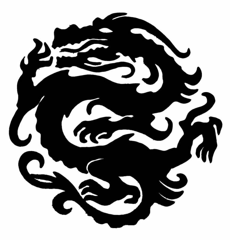 It is an image of Gutsy Dragon Stencils Printable
