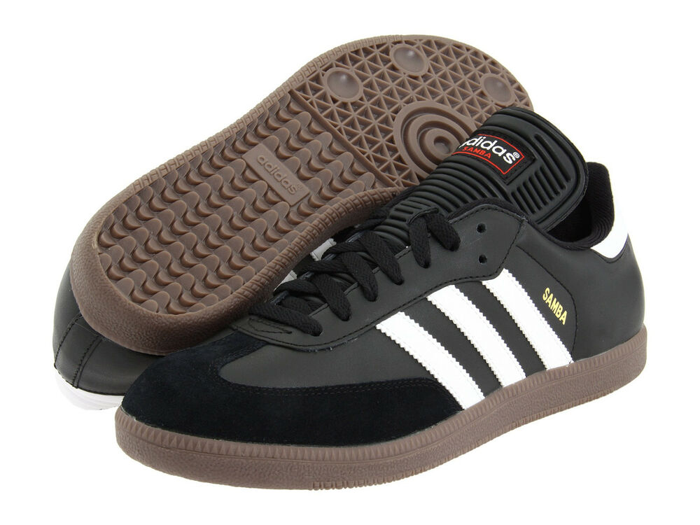 los angeles ff972 ac66e Details about Men Adidas Samba Classic 034563 Black White 100% Authentic  Brand New