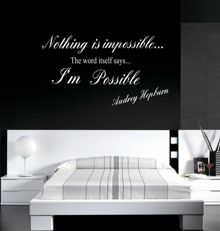 audrey hepburn nothing is impossible wall decal wall