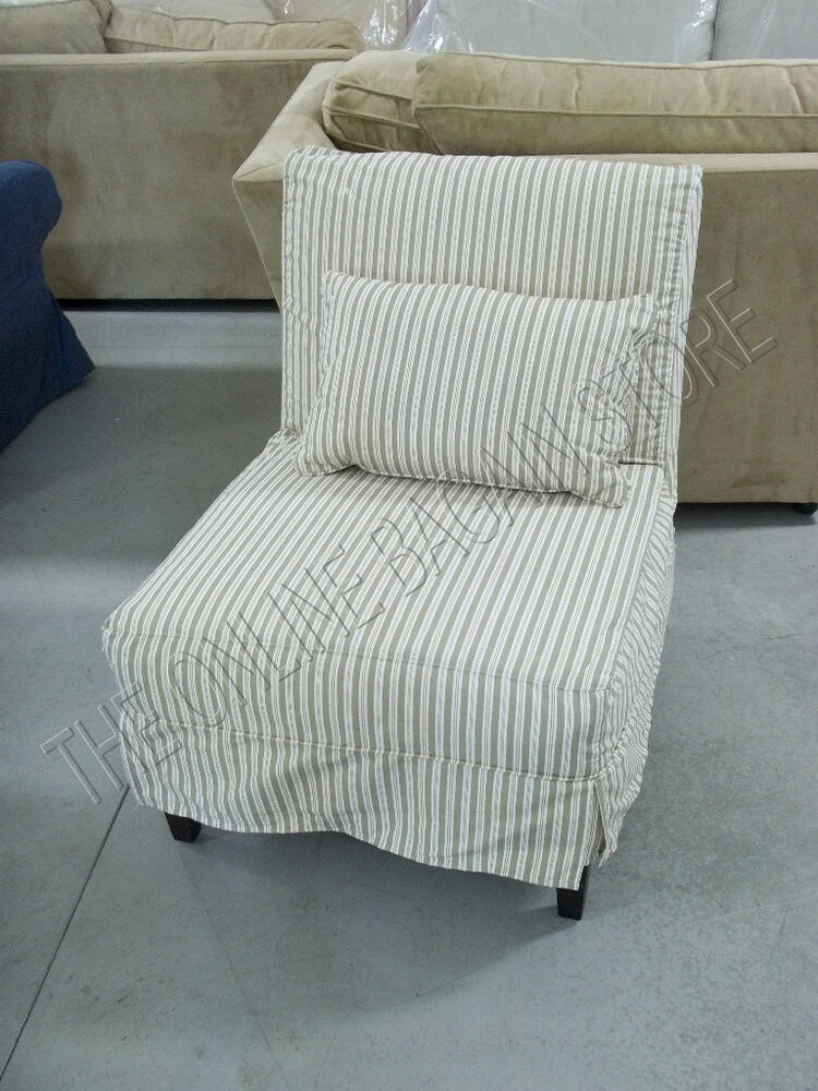 Pottery Barn Brooks Armless Slipcovered Sofa Accent Chair