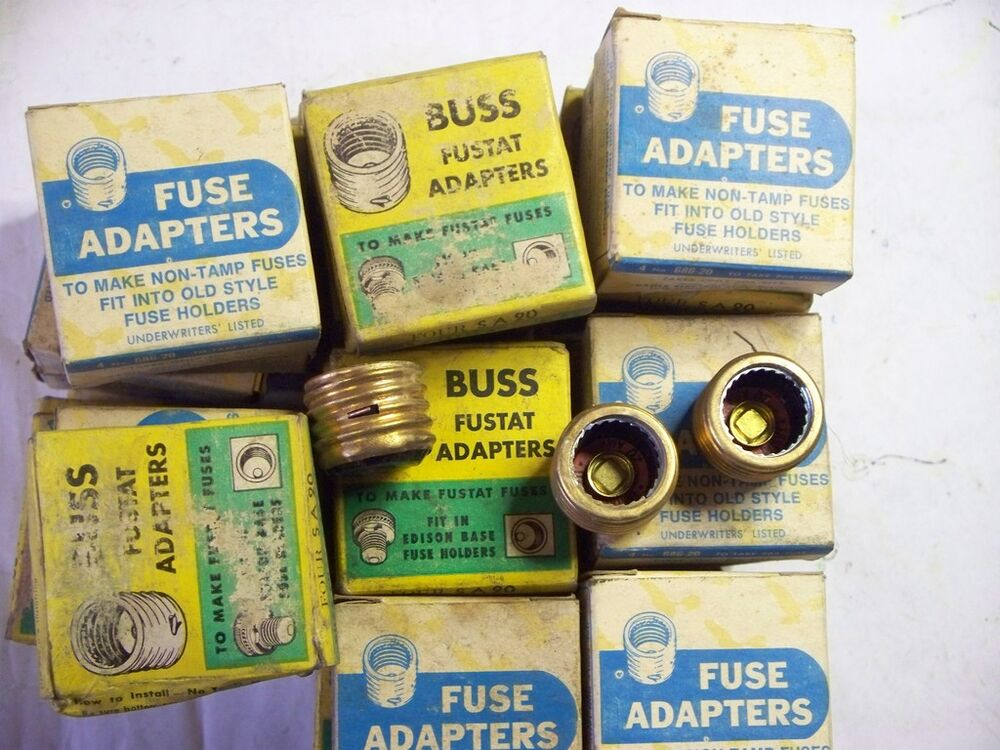 s type fuse box adapter 20amp type s fuse adapters, price per box of 4 | ebay
