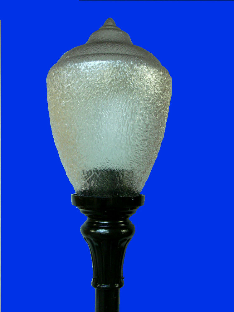 Post Top Fixture Pole Outdoor Lamp Fitter Acorn Top New Ebay