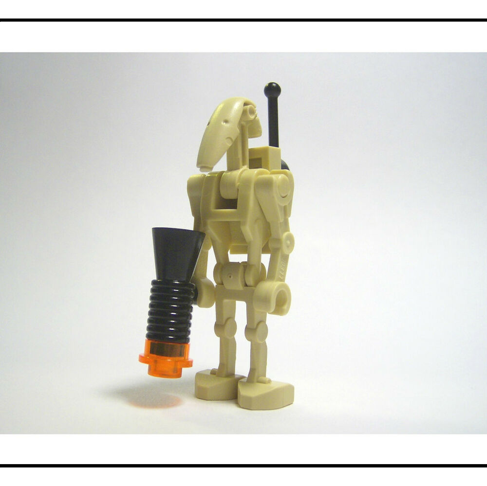 New lego star wars battle droid minifig w backpack ebay - Lego star wars vaisseau droide ...