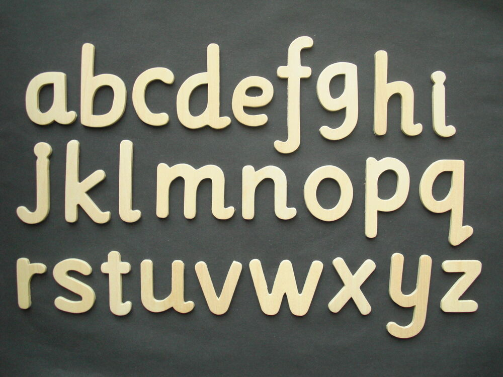 Wooden Lower Case Alphabet Large Letters Templates Stencil One Full 688970725934