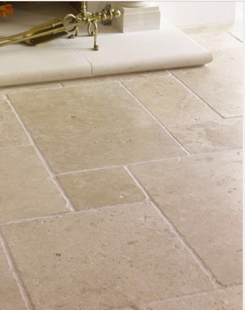 Sample of tumbled classic travertine wall floor tiles ebay for Classic kitchen floor tile