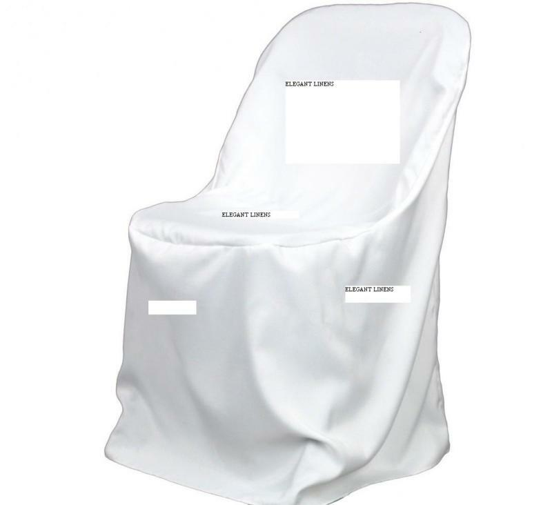 New Polyester Folding Chair Covers Wedding Ebay