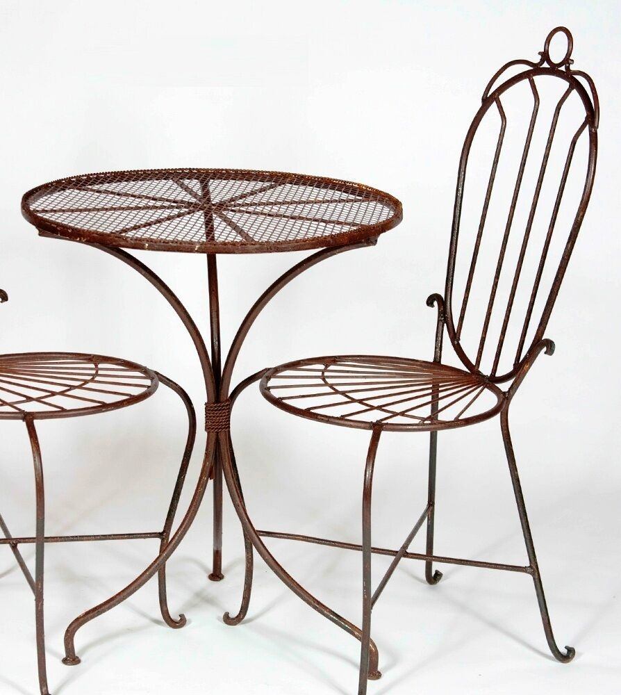 24 round wrought iron table patio furniture for all for Wrought iron furniture