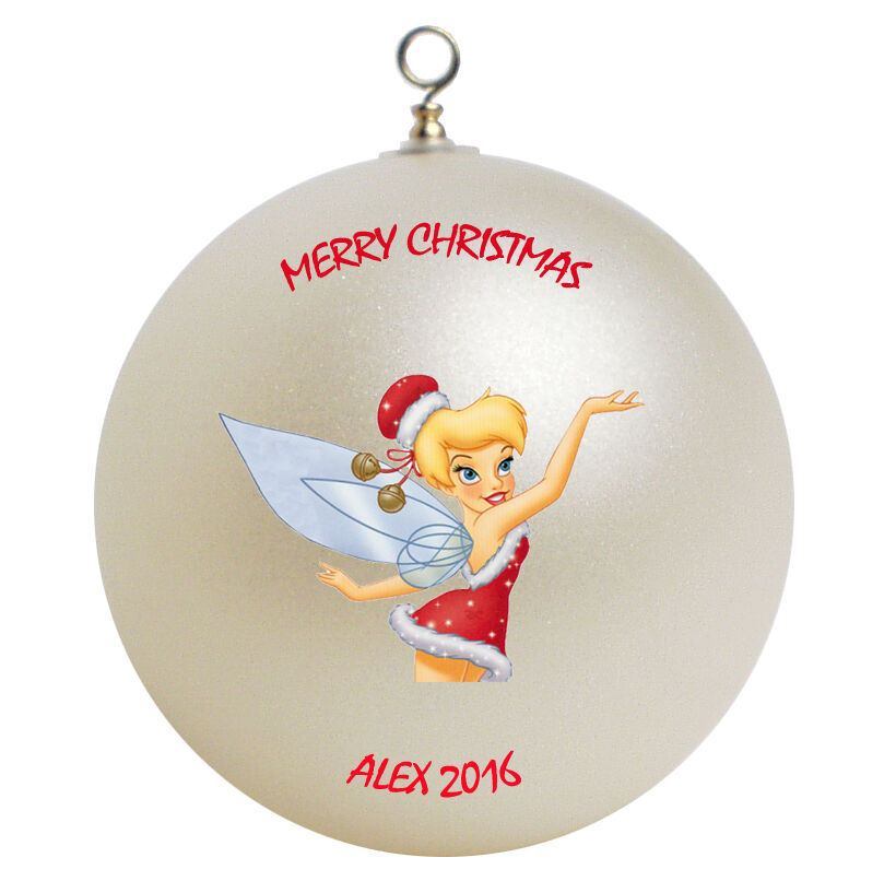 Personalized custom tinkerbell christmas ornament gift add for Customized photo christmas ornaments