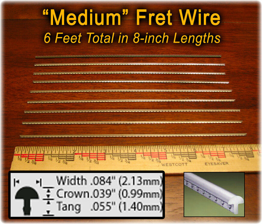 guitar fretting kit medium medium fret wire great how to guide on cd 608866408697 ebay. Black Bedroom Furniture Sets. Home Design Ideas