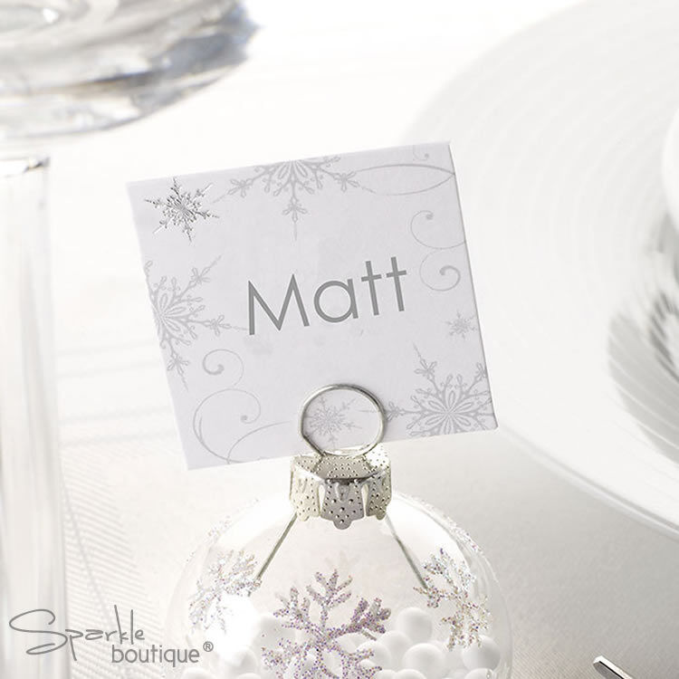 SNOWFLAKE PLACE NAME CARDS -For Christmas Party/Wedding