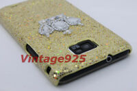 Champage Bling Crown Samsung Galaxy S 2 II i9100 Plastic Skin Phone Cover Case