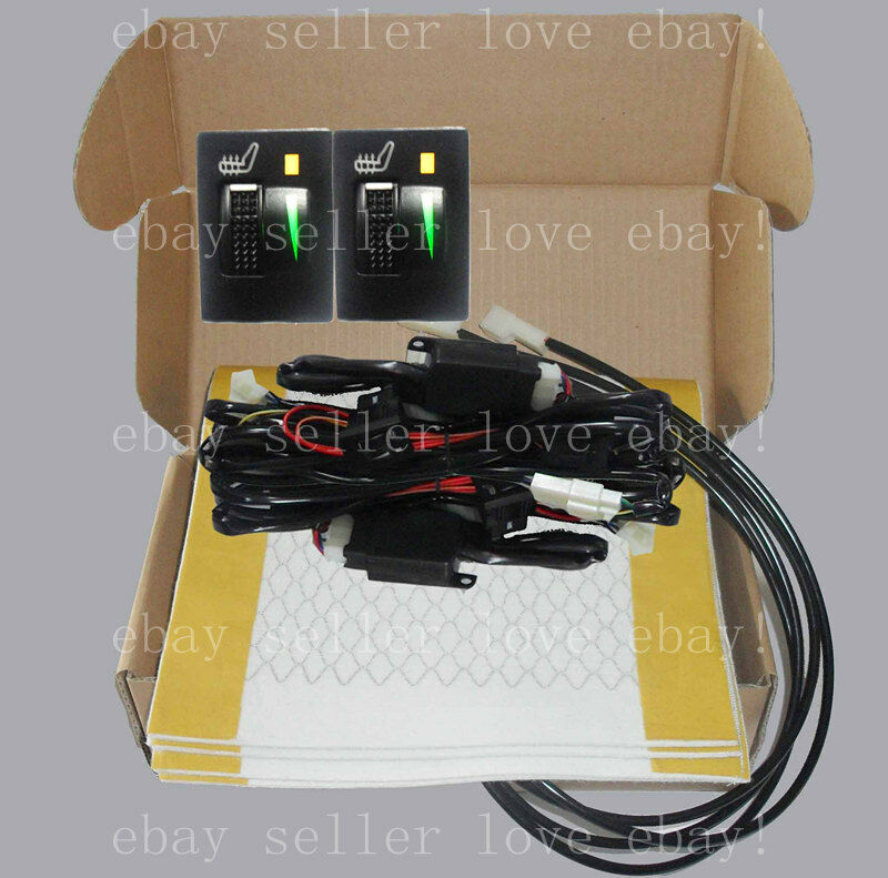 Rectangle Hi Off Lo Switch Seat Heater 4 Seats Install: 2 Seats Heated Seat,seat Heater Fit Toyota Prius Corolla