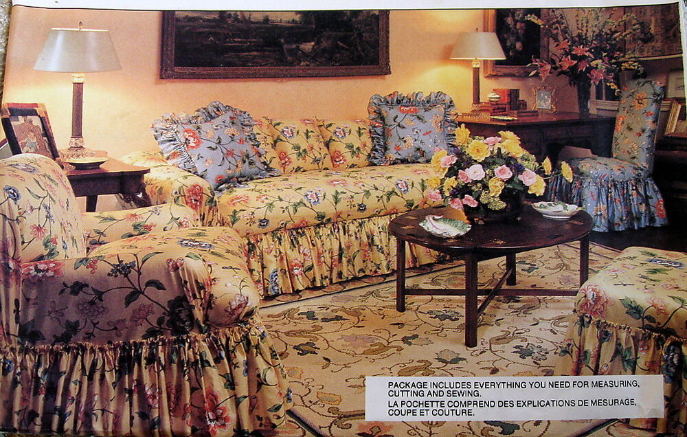 vogue home decor slipcover pattern sofa club or side chair Sofa and Chair Covers sofa loveseat and chair slipcover sets