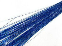 """300S 28"""" laser sparkle blue silk hair tinsel for human /feather hair extensions"""