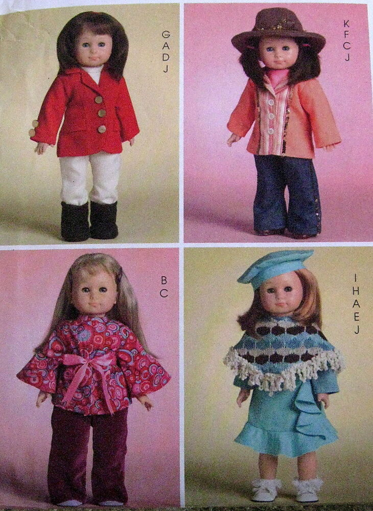 Hippy chic doll clothes pattern horse riding outfit cow girl hat boots