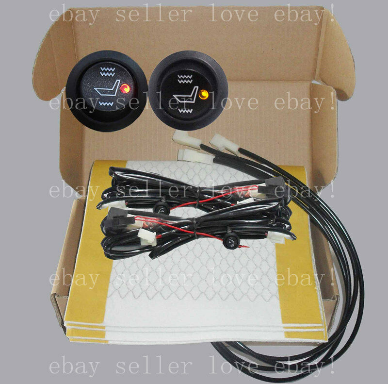 Heated Seat Kit2 Seats Install Round Switch Seat Heater