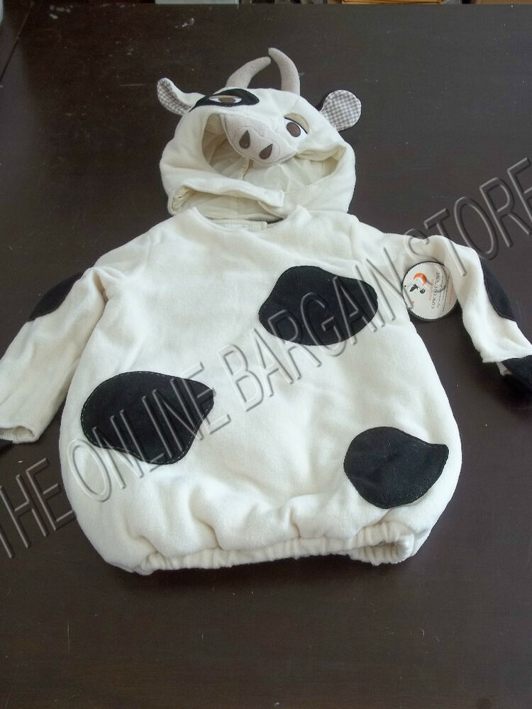 Pottery Barn Kids Puffy Halloween Cow Farm Animal Costume