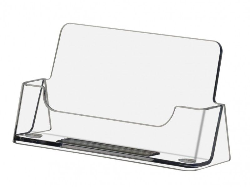 Qty 1000 Clear plastic business card display stand holders