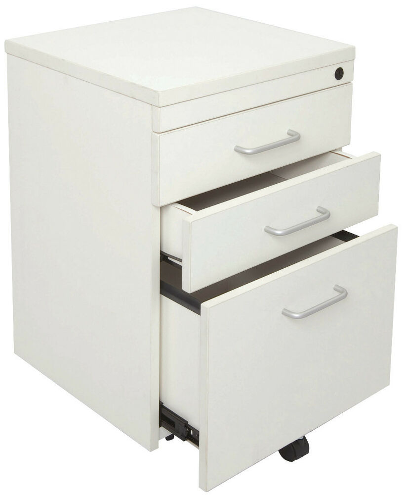 mobile pedestal drawers with lock office drawers desk drawers office draws ebay. Black Bedroom Furniture Sets. Home Design Ideas