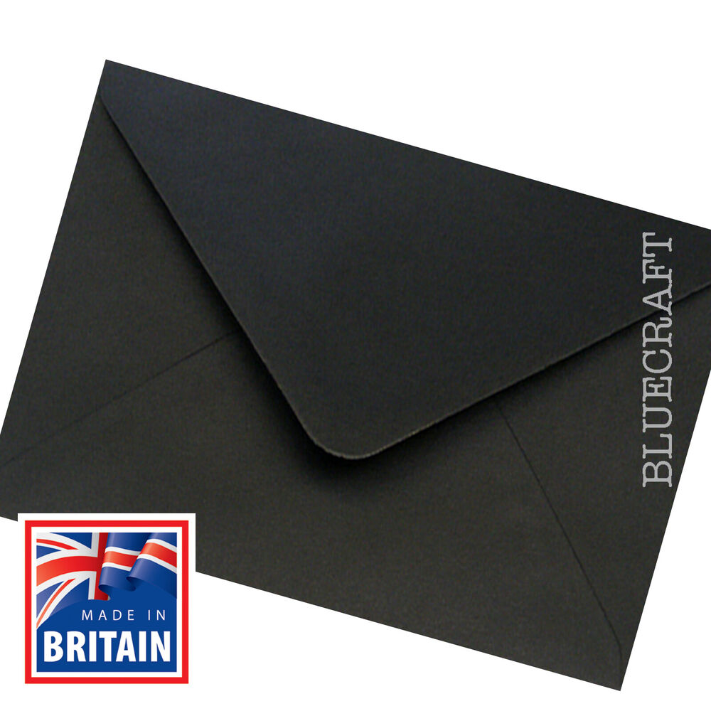 50 x a5  c5 jet black envelopes