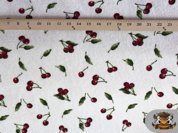 Polar fleece fabric printed cherry by the yard ebay for Children s clothing fabric by the yard