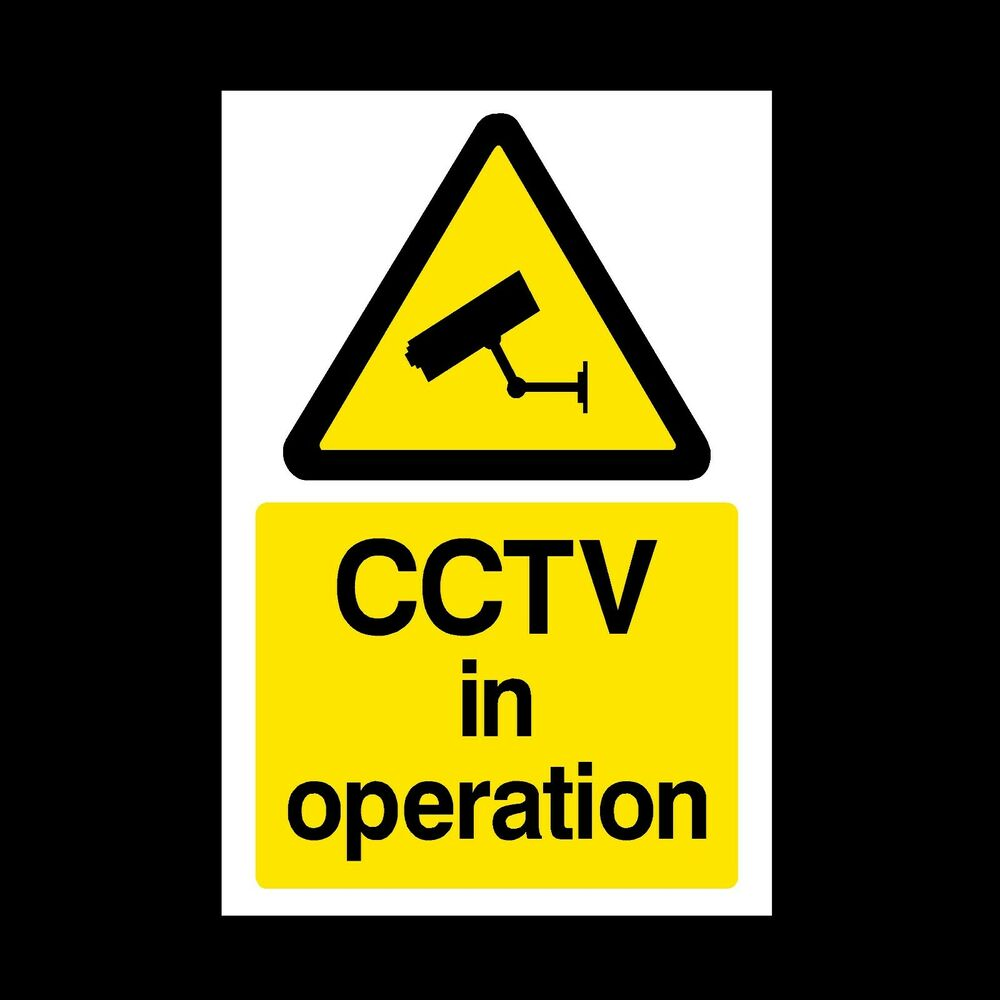 Cctv Sign Cctv In Operation Self Adhesive Stickers