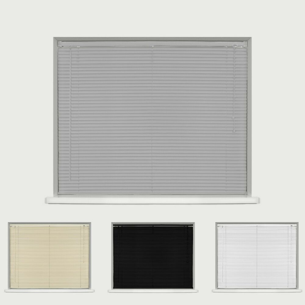 Pvc Venetian Blinds Cream White Black 150cm Amp 210cm