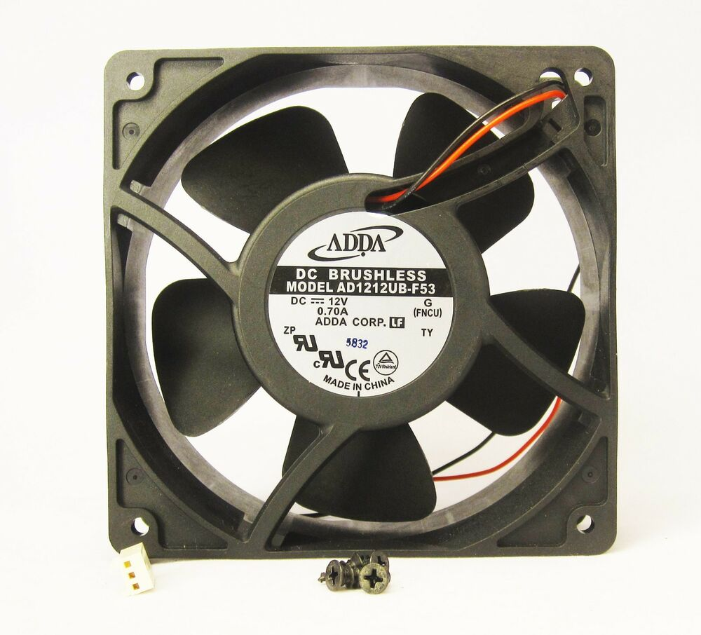 Pc Cooling Fan Wiring Diagram Will Be A Thing Dc Brushless 120mm 38mm New Metal Case 12v 120cfm Cpu Computer Electric