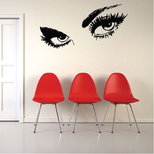 giant eyes large vinyl art wall stickers wall decals. Black Bedroom Furniture Sets. Home Design Ideas