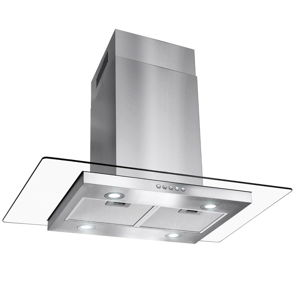 Glass Kitchen Hoods ~ Gtc europe quot kitchen glass stainless steel island range