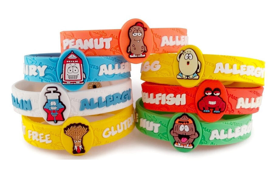 Allermates Allergy Wristbands Alert Medical Id Silicone