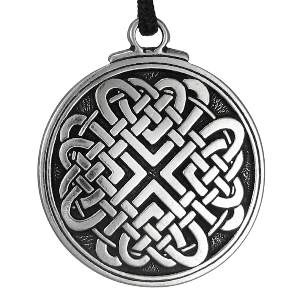 celtic love knot necklace heart jewelry talisman amulet. Black Bedroom Furniture Sets. Home Design Ideas