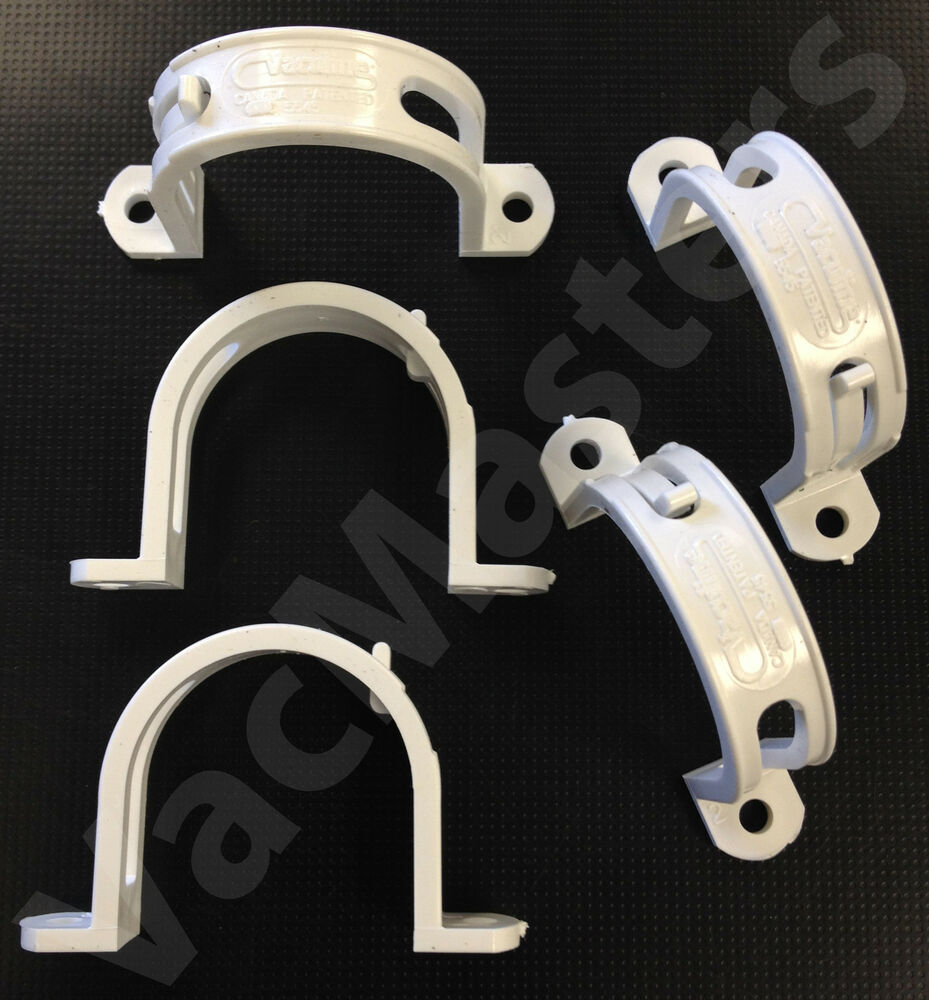 Central vacuum quot pvc pipe straps clamps used for rough