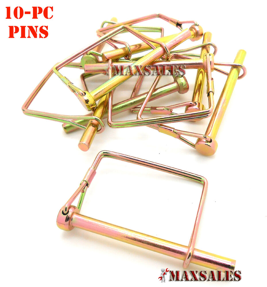 25 Pin Coupler : Pc quot pto trailer coupler safety pin lock square new