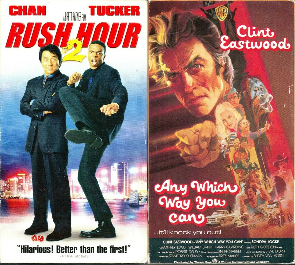 Where Can I Sell My Vhs Tapes >> Rush Hour 2 (VHS, 2001) & Any Which Way You Can (VHS, 1980 ...