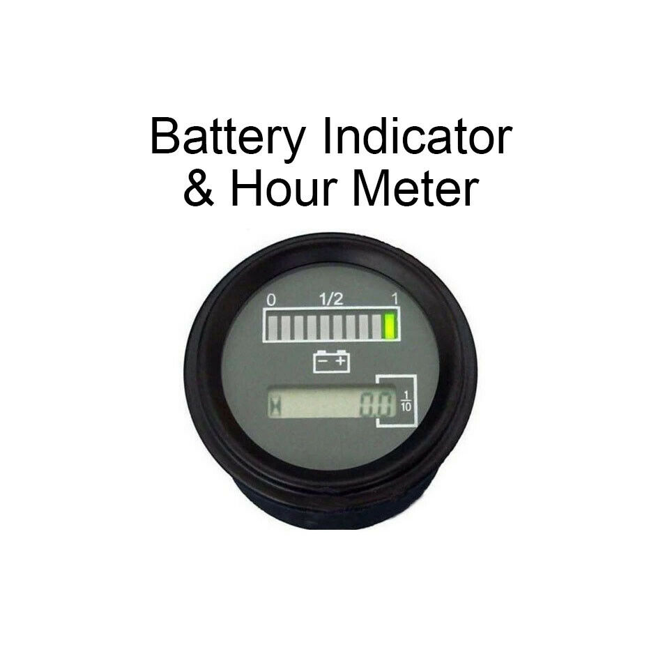 Electric Motor Hour Meters : V marine engine hour meter w battery indicator