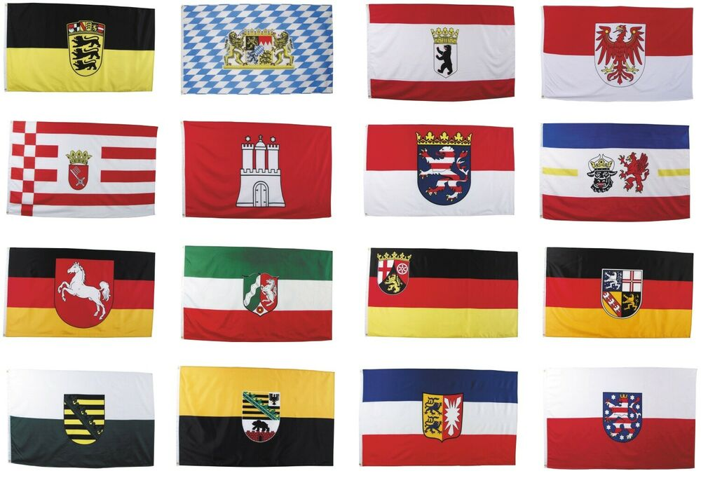 flagge bundesl nder 90 x 150 cm deutschland fahne flaggen fahnen l nder germany ebay. Black Bedroom Furniture Sets. Home Design Ideas