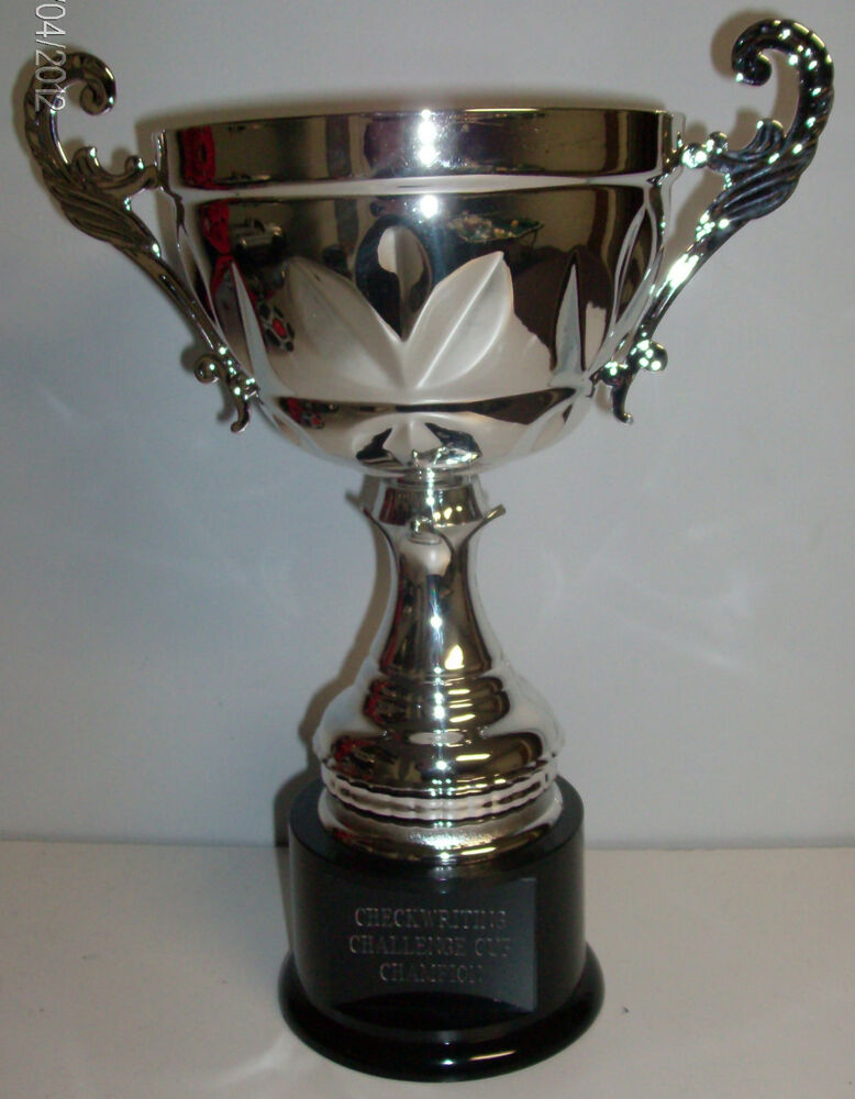 Metal Golf Or Fantasy Football Cup Trophy Award Silver Or