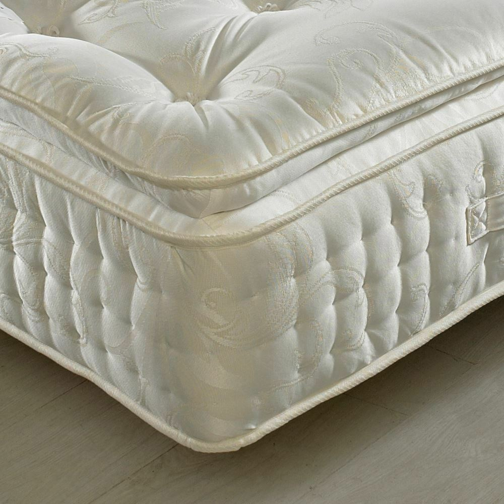 happy beds organic 2000 pillow top pocket sprung mattress bedroom furniture home ebay. Black Bedroom Furniture Sets. Home Design Ideas