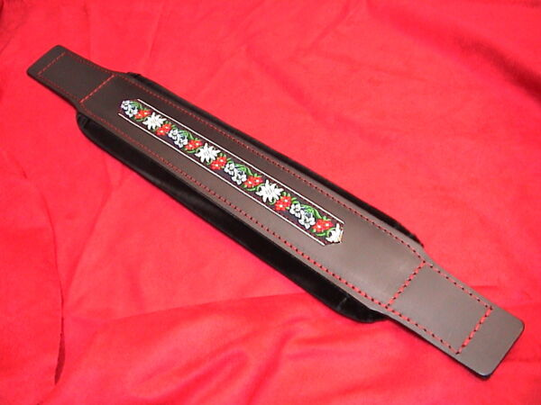 8 x 54 cm Akkordeon (Leder) Bassgurt, Bassriemen, accordion bass belt,strap FOLK
