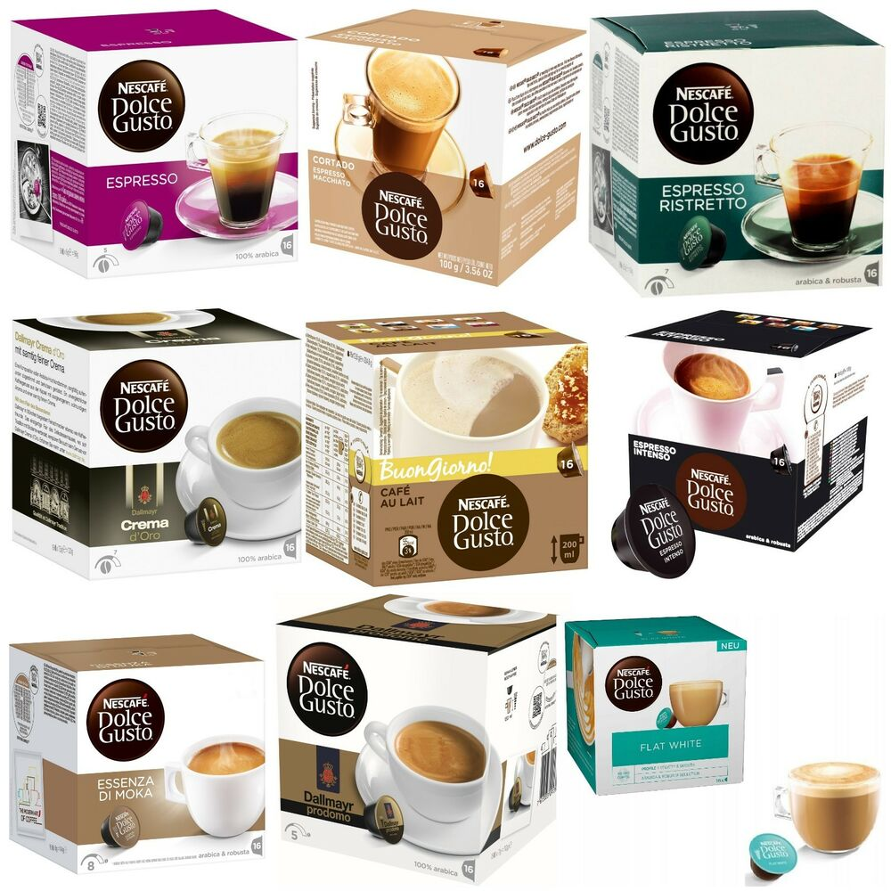 capsules for nescafe dolce gusto 25 different flavors choose your favorite taste ebay. Black Bedroom Furniture Sets. Home Design Ideas