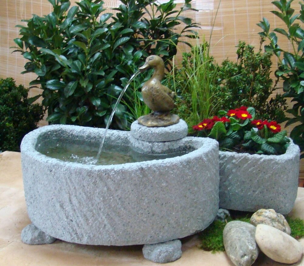 springbrunnen brunnen wasserspiel granitwerkstein stein 137kg ebay. Black Bedroom Furniture Sets. Home Design Ideas