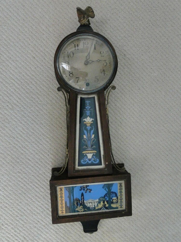 Antique Clock 1880 Made By Newhaven Clock And Co White