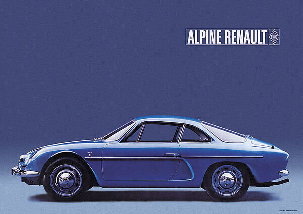 renault alpine a110 berlinette classic car poster prints a1 ebay. Black Bedroom Furniture Sets. Home Design Ideas