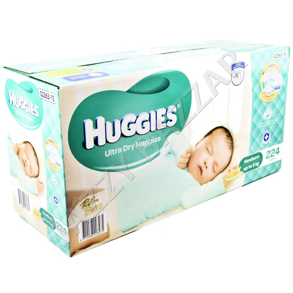 Huggies Ultra Dry Nappies Newborn 224 Disposable Newborn